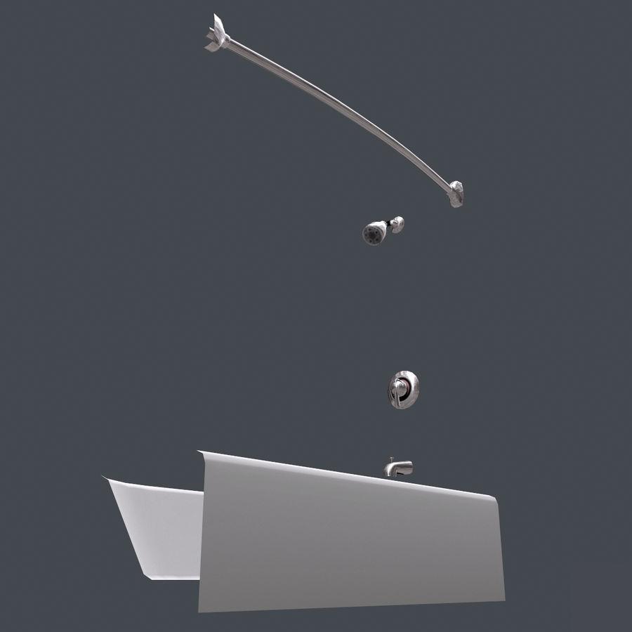 목욕통 royalty-free 3d model - Preview no. 10