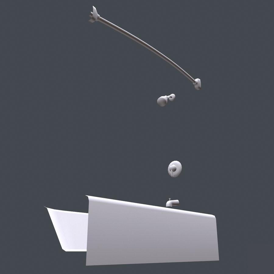 목욕통 royalty-free 3d model - Preview no. 11