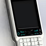 teléfono móvil modelo 3d