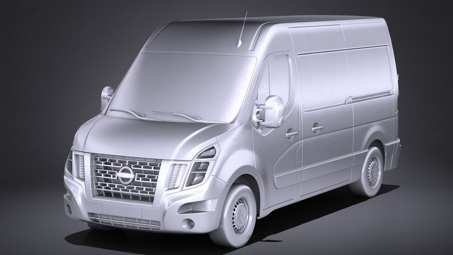 Nissan NV400 2018 royalty-free 3d model - Preview no. 9