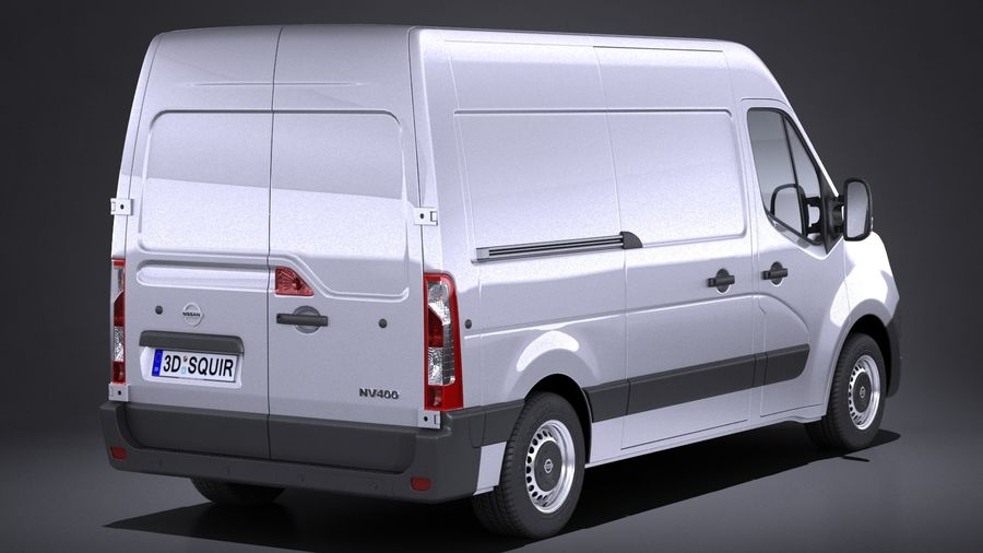 Nissan NV400 2018 royalty-free 3d model - Preview no. 6