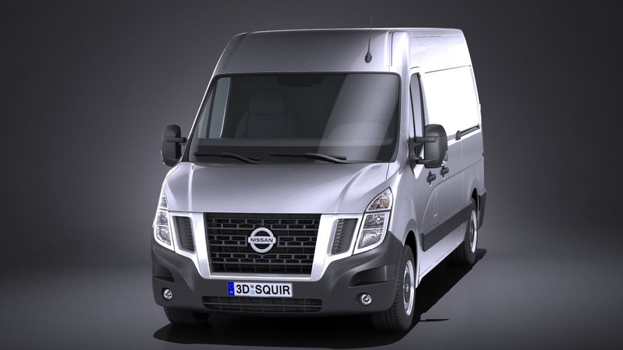Nissan NV400 2018 royalty-free 3d model - Preview no. 2