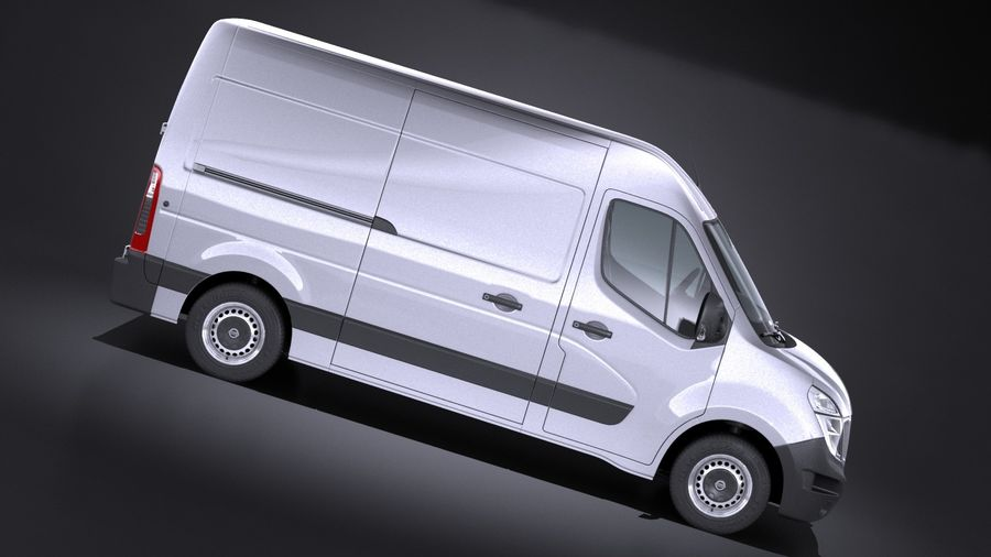 Nissan NV400 2018 royalty-free 3d model - Preview no. 7