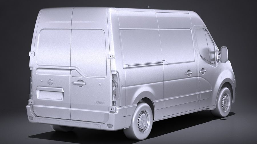 Nissan NV400 2018 royalty-free 3d model - Preview no. 12
