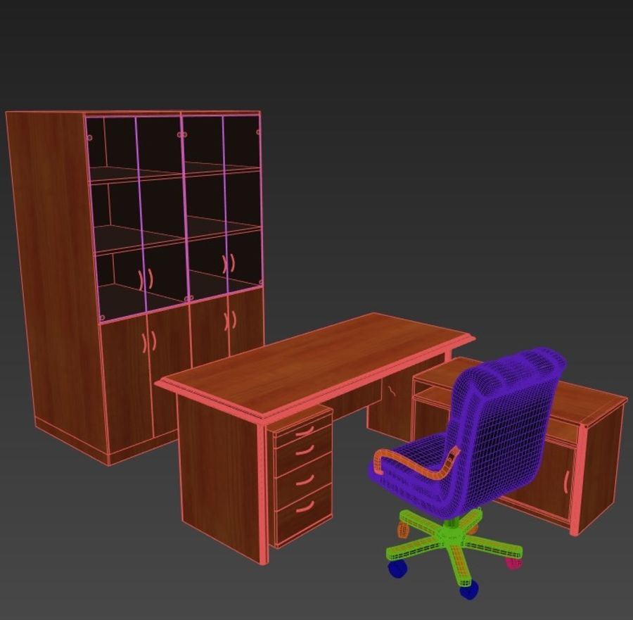 Office Furniture royalty-free 3d model - Preview no. 3