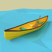 Canoa de dibujos animados modelo 3d