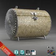 圆筒化妆手提包首饰盒 3d model
