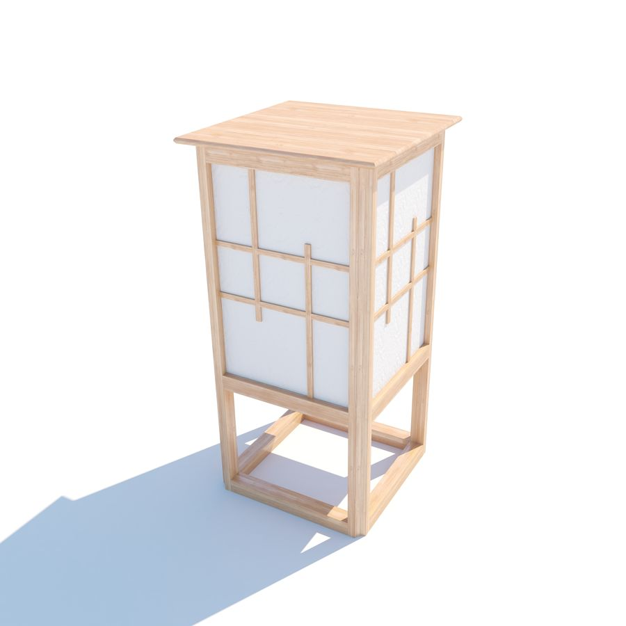 3D7unknownmaxobj japonesa pie Lámpara v1 Modelo de rdhxBQCts