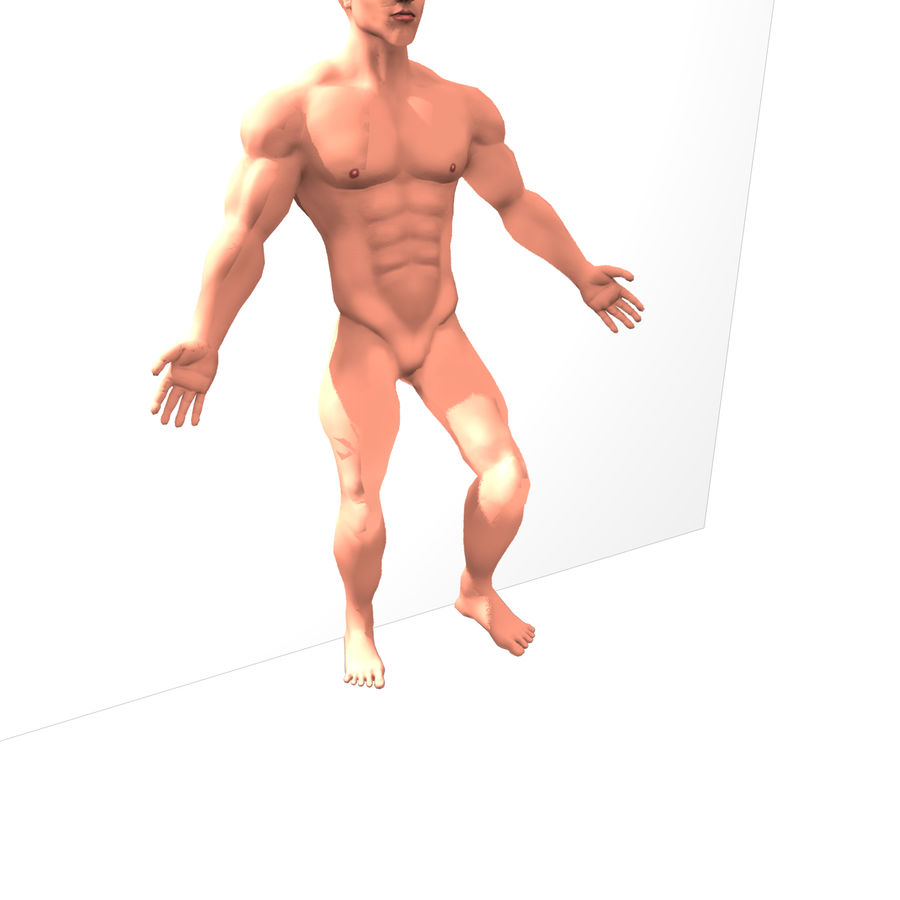 Riggad hane royalty-free 3d model - Preview no. 9