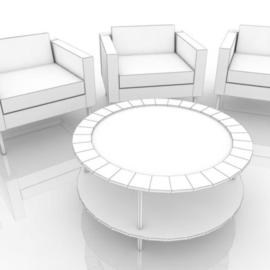 ソファと丸テーブル royalty-free 3d model - Preview no. 5