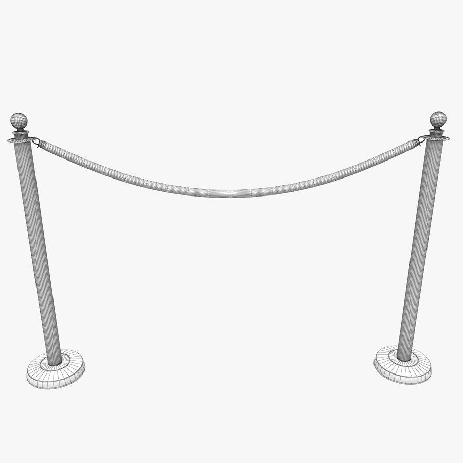 ベルベットロープ royalty-free 3d model - Preview no. 10