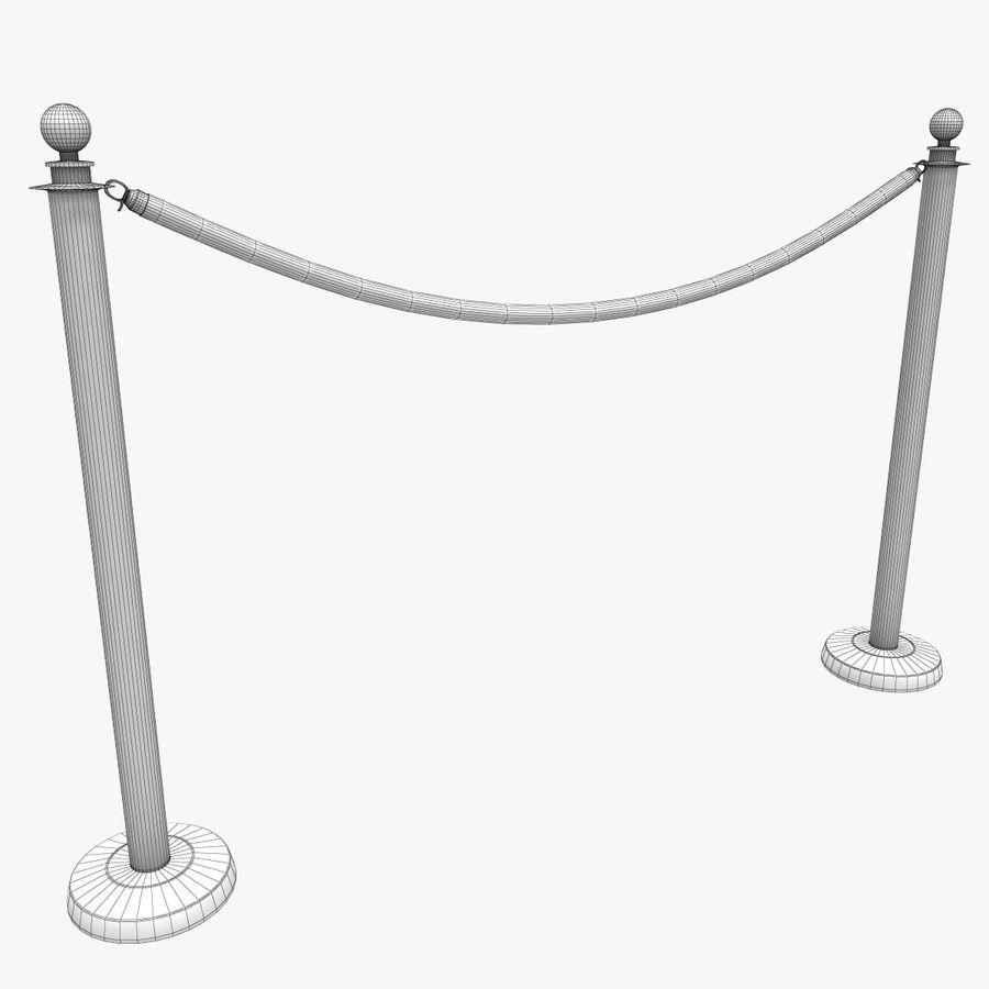 ベルベットロープ royalty-free 3d model - Preview no. 7
