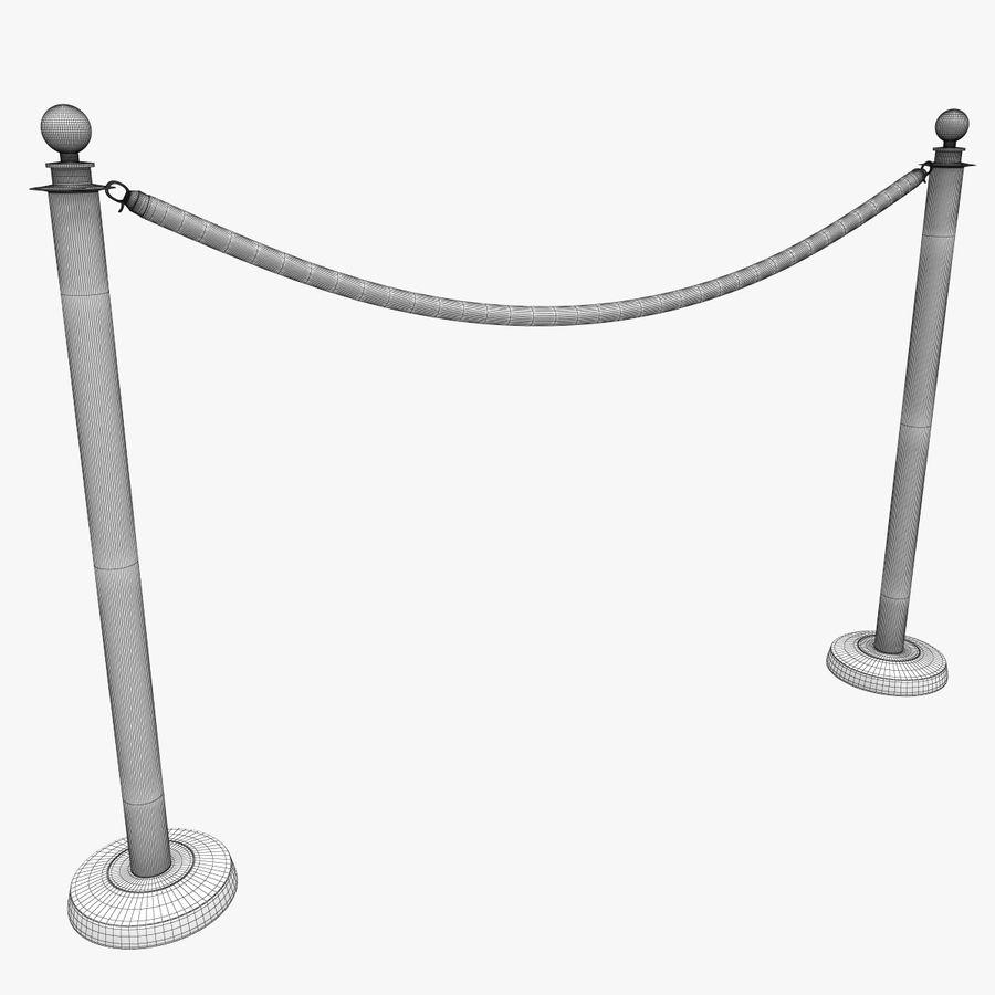 ベルベットロープ royalty-free 3d model - Preview no. 9