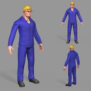 Worker 3d model