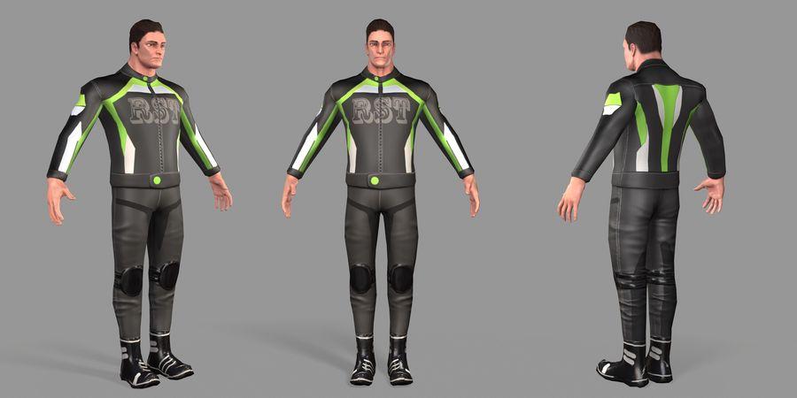 骑自行车的人 royalty-free 3d model - Preview no. 47