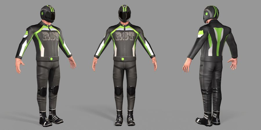 骑自行车的人 royalty-free 3d model - Preview no. 46