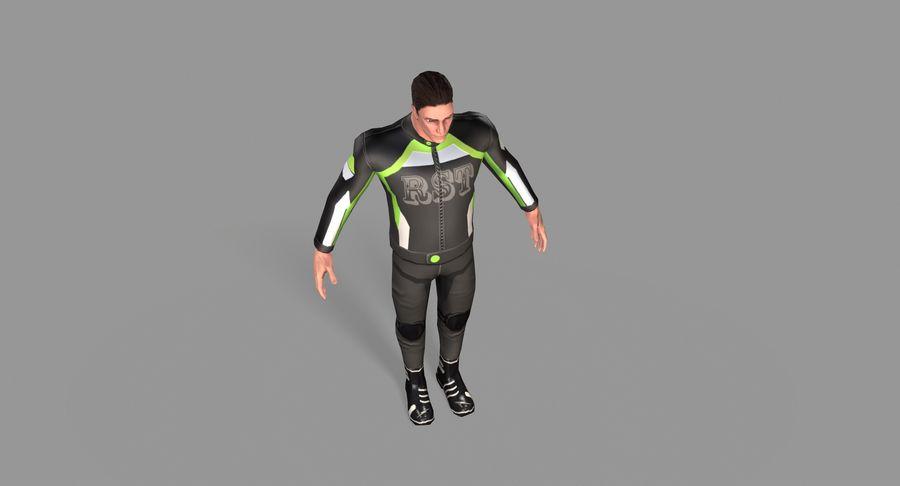 骑自行车的人 royalty-free 3d model - Preview no. 26