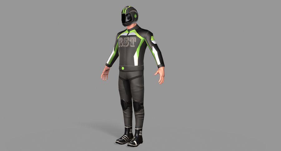 骑自行车的人 royalty-free 3d model - Preview no. 9