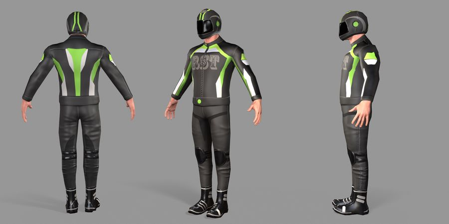 骑自行车的人 royalty-free 3d model - Preview no. 49
