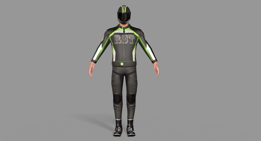 骑自行车的人 royalty-free 3d model - Preview no. 2