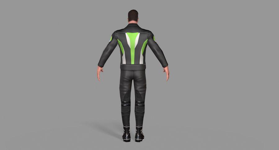 骑自行车的人 royalty-free 3d model - Preview no. 14