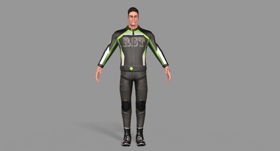 骑自行车的人 royalty-free 3d model - Preview no. 10