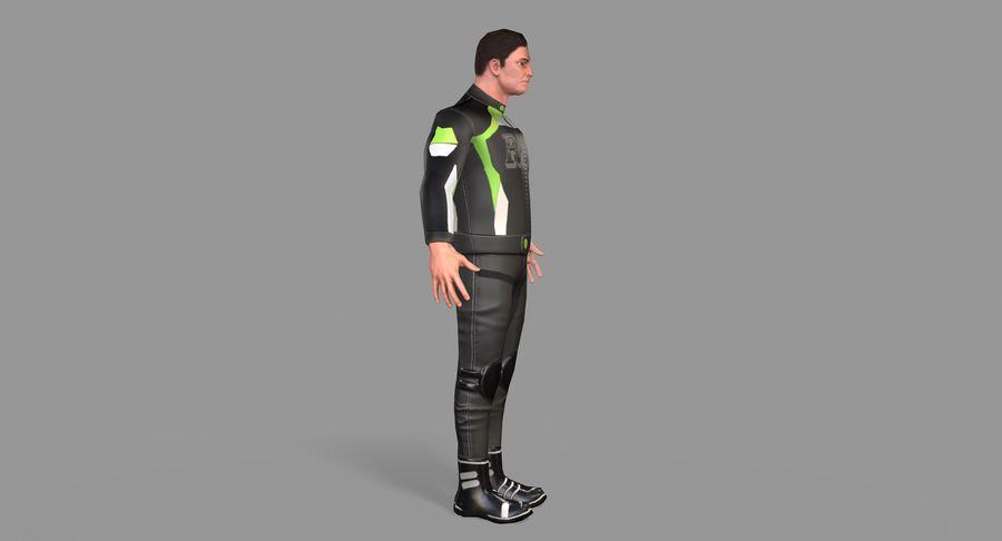 骑自行车的人 royalty-free 3d model - Preview no. 12