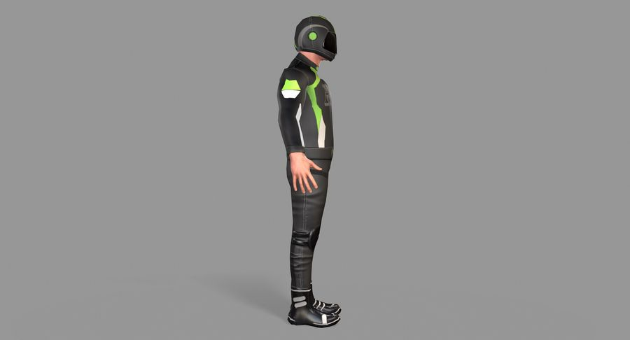 骑自行车的人 royalty-free 3d model - Preview no. 4