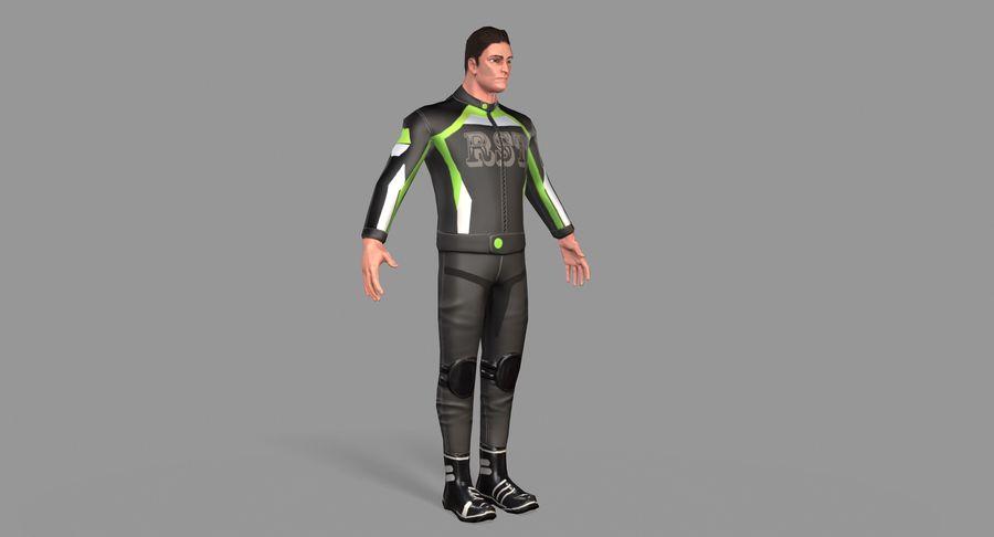 骑自行车的人 royalty-free 3d model - Preview no. 11