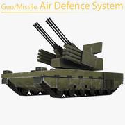 Sistema di difesa aerea pistola / missile 3d model