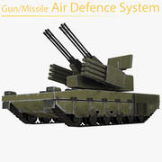 Gun/Missile Air Defense System 3d model
