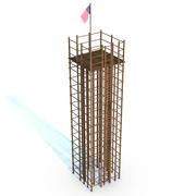 Wood Tower Structure 3d model