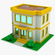 Cartoon House 10 3d model