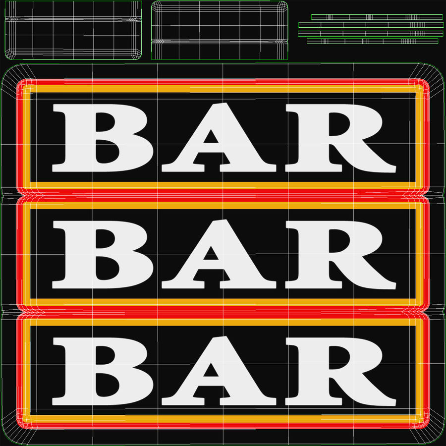 Slot machine bar font maker