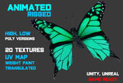 Low / High-Poly-Schmetterling 3d model