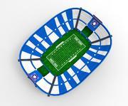 Amerikansk fotbollsstadion 3d model
