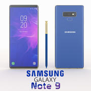 SAMSUNG GALAXY NOTE 9 BLUE 3d model