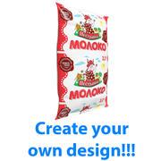 Sachet of milk 3d model