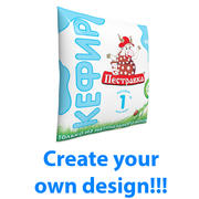 Sachet of milk 450ml 3d model