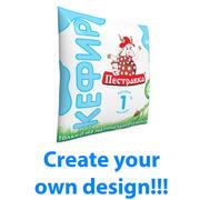 Sachet of milk 450ml 3d model