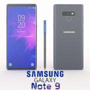 SAMSUNG GALAXY NOTE 9 GRAY 3d model
