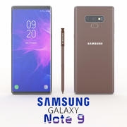 SAMSUNG GALAXY NOTE 9 BROWN 3d model