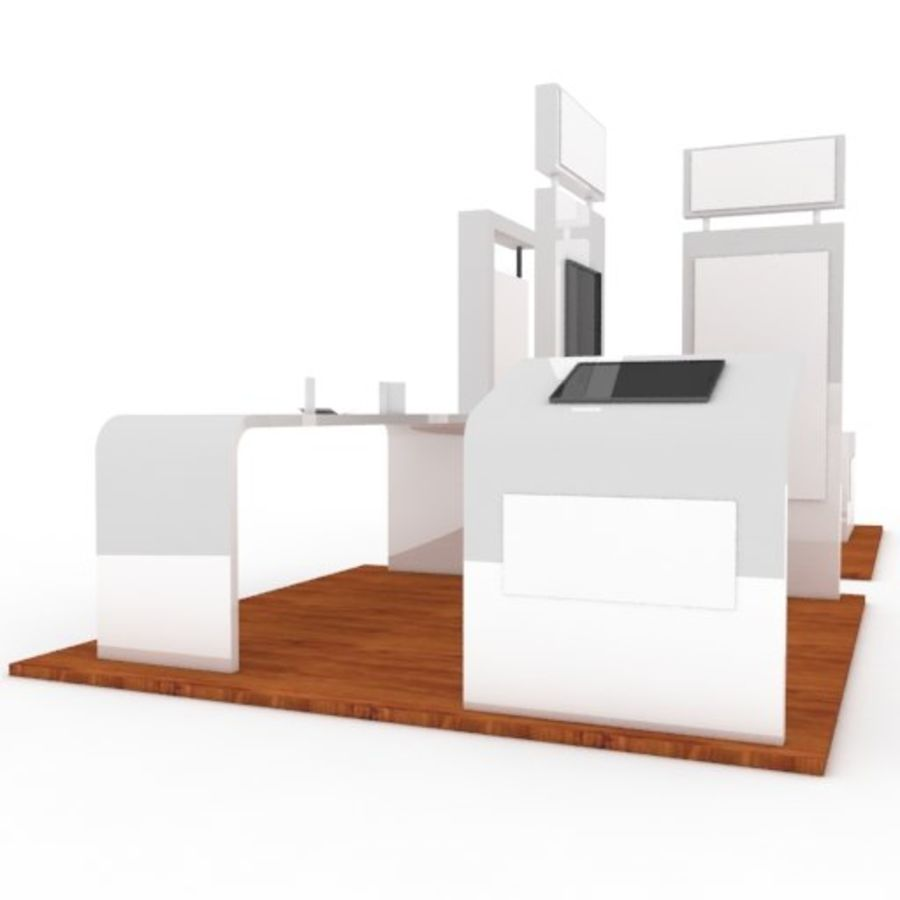 Exhibition Booth 2 royalty-free 3d model - Preview no. 5