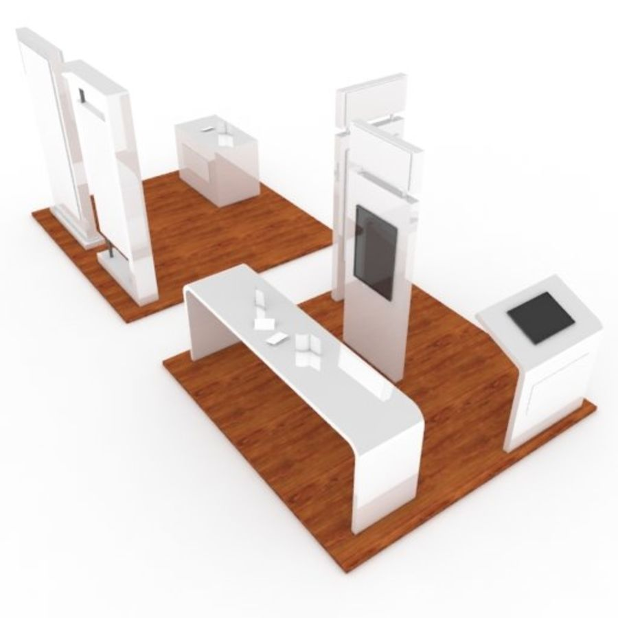 Exhibition Booth 2 royalty-free 3d model - Preview no. 4