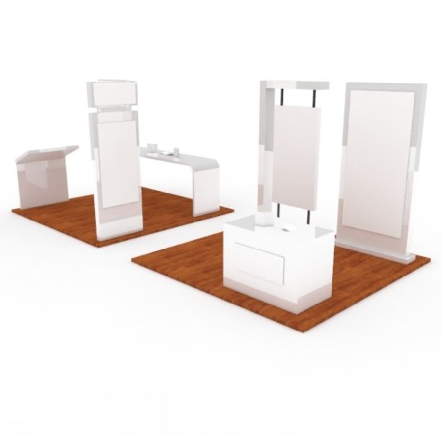 Exhibition Booth 2 royalty-free 3d model - Preview no. 2