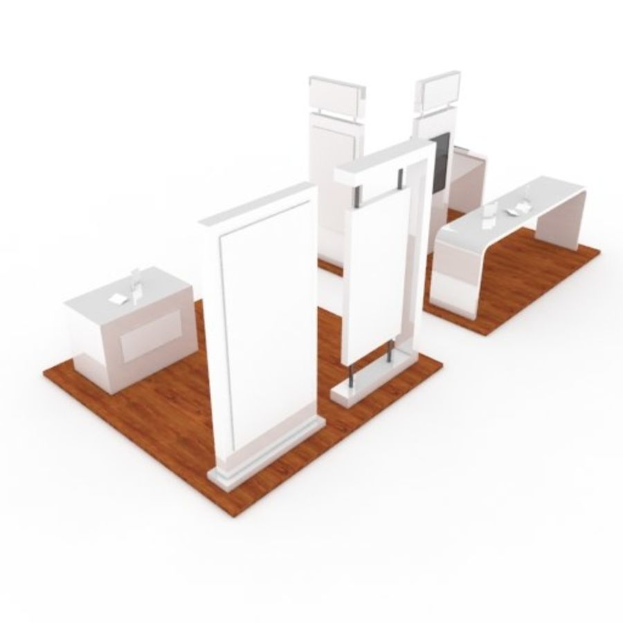 Exhibition Booth 2 royalty-free 3d model - Preview no. 3