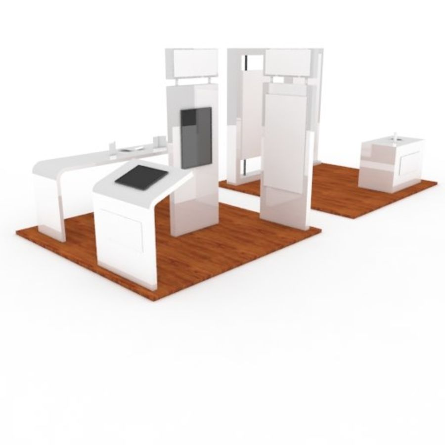 Exhibition Booth 2 royalty-free 3d model - Preview no. 1