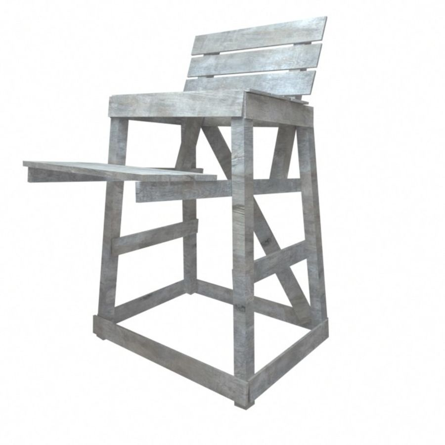 Soporte de silla salvavidas royalty-free modelo 3d - Preview no. 2