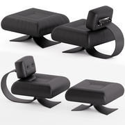 Alta Chair and Ottoman by Os car Niemeyer 3d model