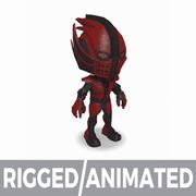 Predator Hero Champ 2 - Персонаж MOBA MMORPG - Подстроенный и анимированный 3d model